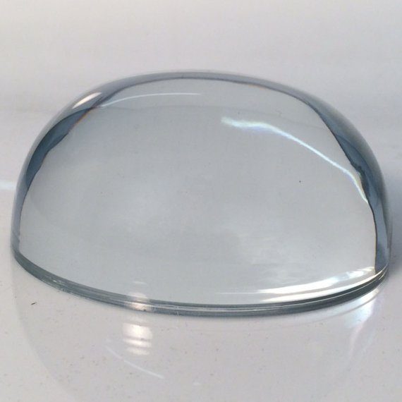 Dome Magnifying Crystal Paperweight for Appreciation Gift