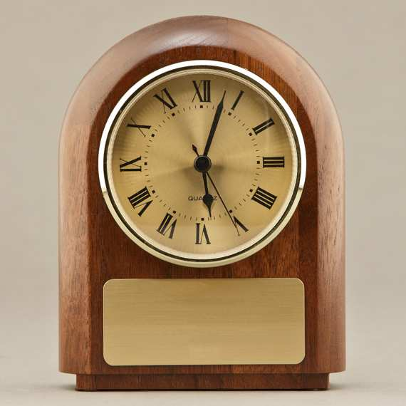 Walnut Desk Clock for Educator Appreciation Gift