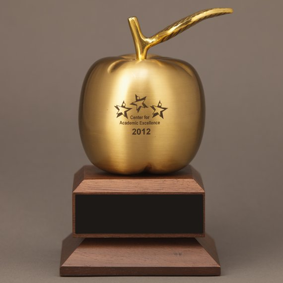 Trophy Emblems-Gifts Personalised Happy Chappy Worlds Best Teacher Apple Award ENGRAVED FREE
