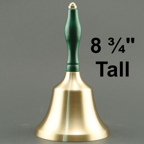 Teacher Recognition Hand Bell with Green Handle - No Personalization