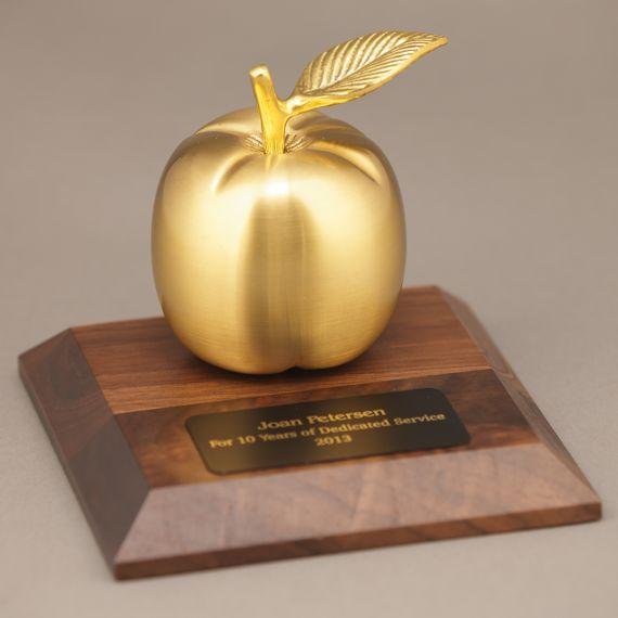 Golden Brass Apple Desk
