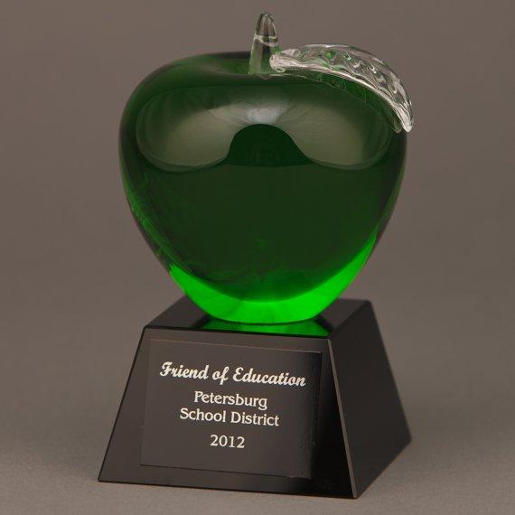 Green Crystal Apple as an Appreciation Gift Idea