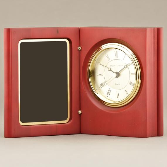 Rosewood Stained Book Clock