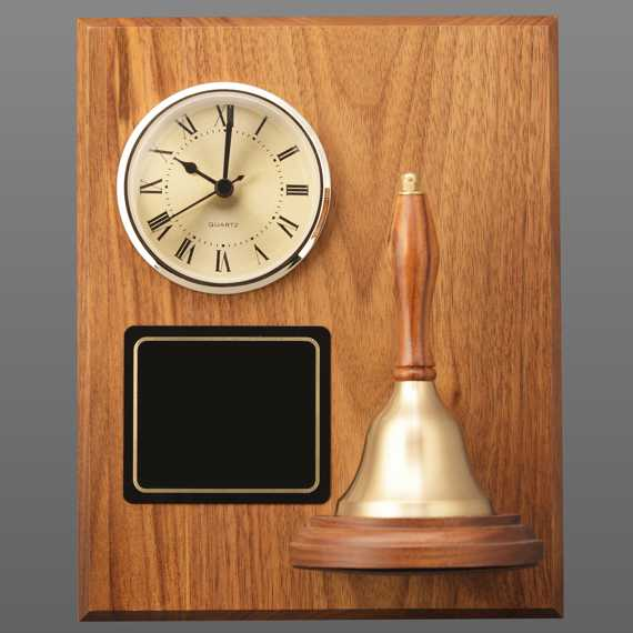 Teacher Appreciation Week Clock Handbell Plaque without Personalization