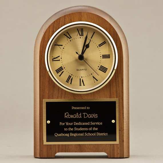 Teacher Appreciation Mantel Clock with Personalization