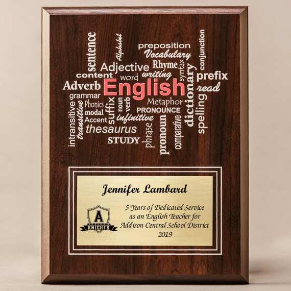 Amazing Educator Series - English Teacher with Personalization