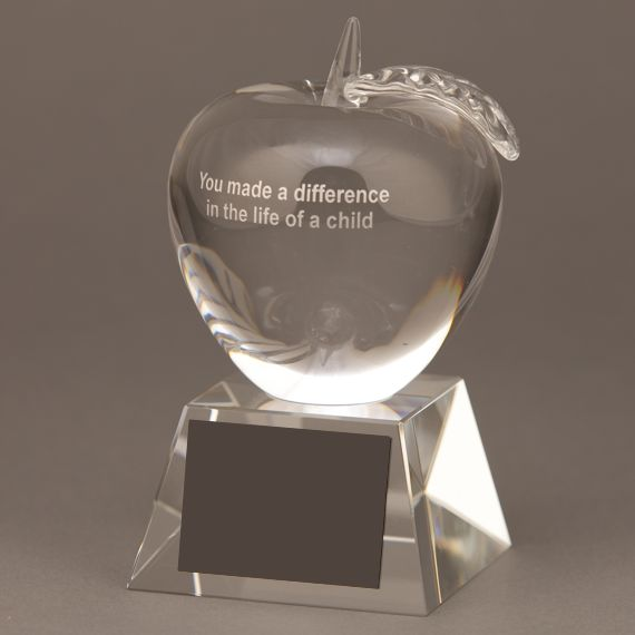 Crystal Apple Trophy for Food Service Professional