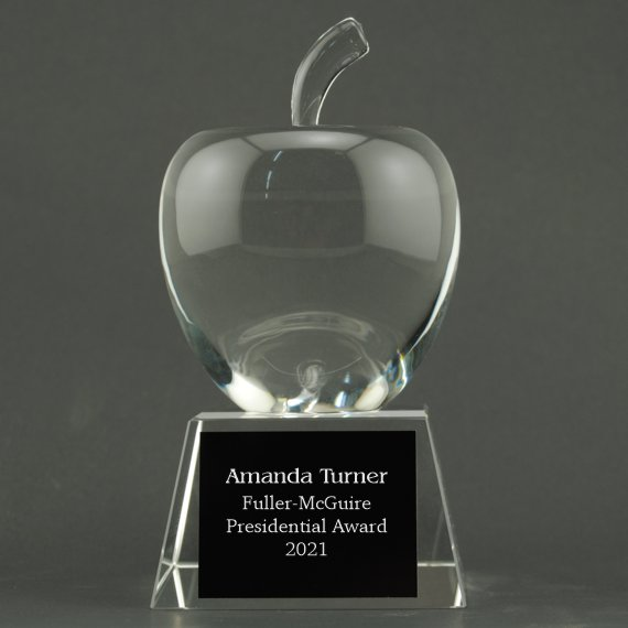Crystal Apple on Crystal Base - Plate Personalization