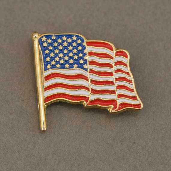 Custom Flag Lapel Pin - Enamel