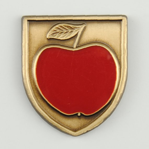 Teacher Appreciation Day Gift Idea Custom Lapel Pin - Apple