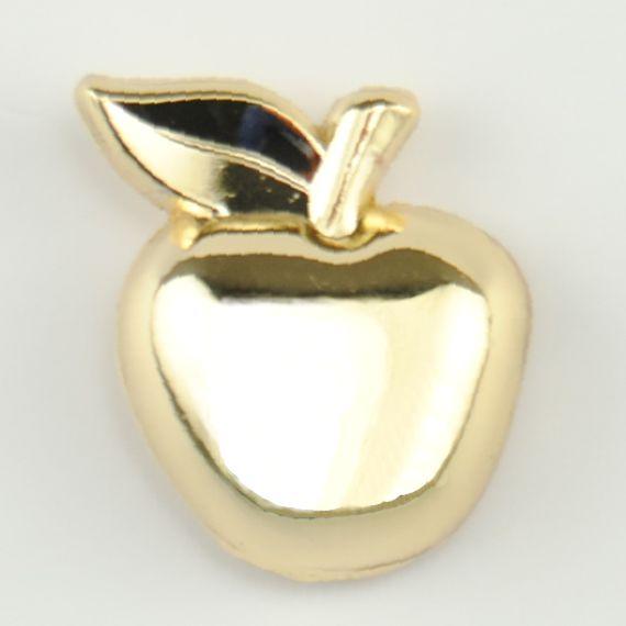 Teacher Appreciation Day Gift Idea Custom Lapel Pin - Gold Apple