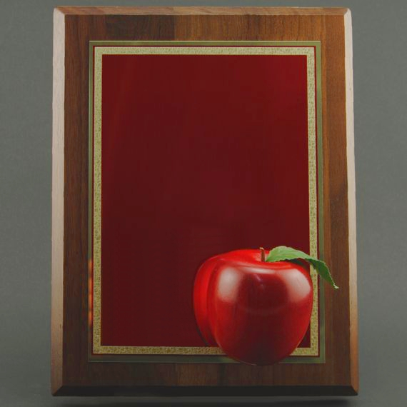 Red Apple Plaque - Non-Engraved Makes an a Great President's Award for Educational Excellence