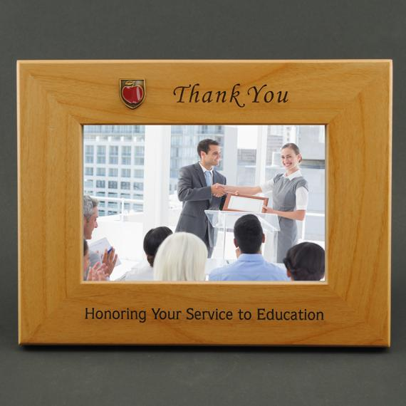 Custom Wood Frame as a Teacher Appreciation Gift Idea