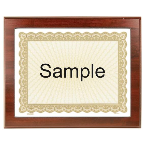 Certificate of Appreciation Frame Plaque