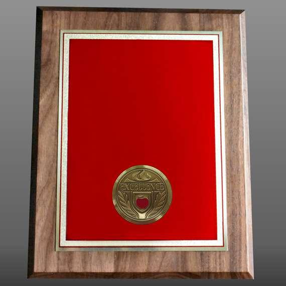 Custom Non-Engraved Educator Appreciation Plaque For Service Recognition