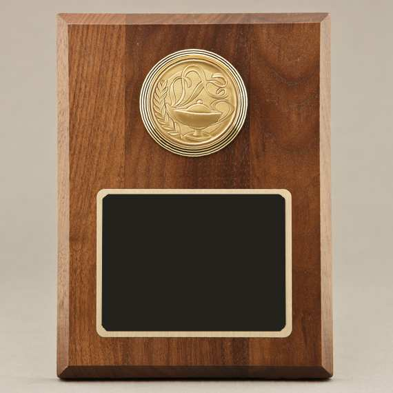 Support Staff Appreciation Plaque with Medallion Choice