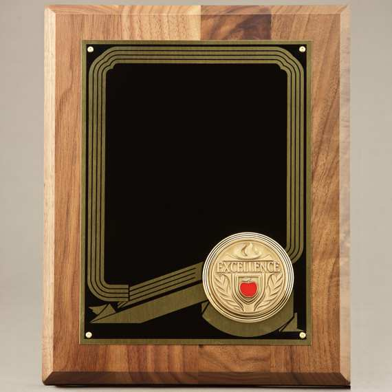 Custom Non-Personalized Teacher Plaque of Appreciation with Medal