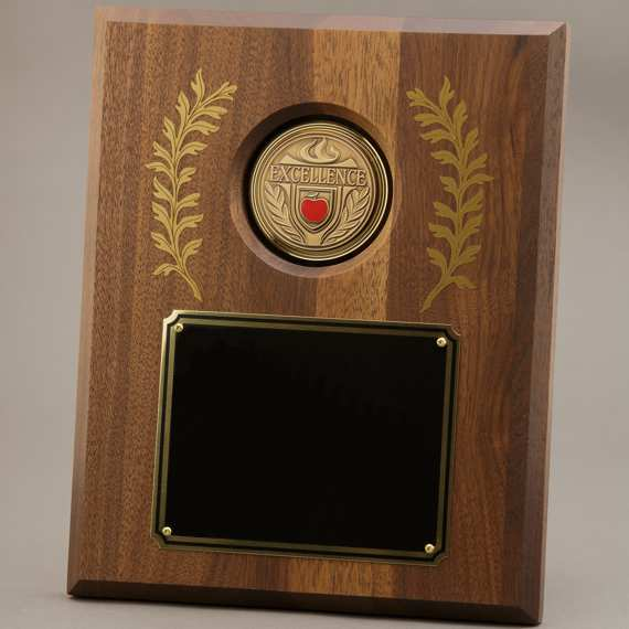 Large Laurel Leaf Educator Recognition Plaque - 8x10 - No Engraving
