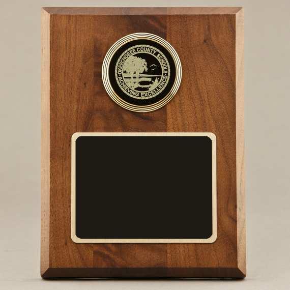 Custom Engraved Teacher Appreciation Plaque Idea with Custom Medal