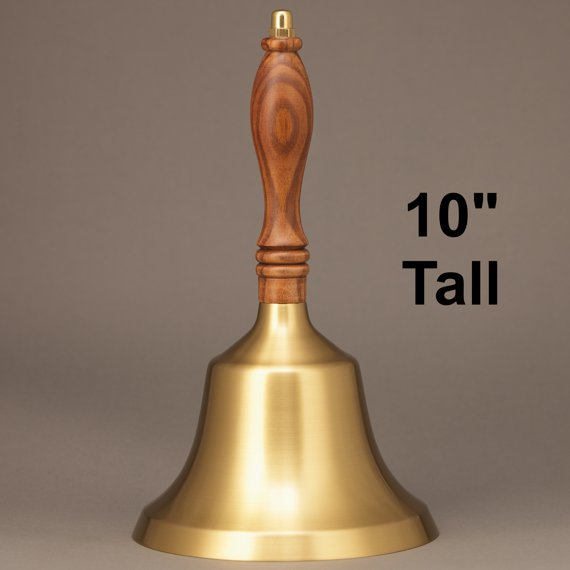 Teacher Recognition Hand Bell with Walnut Handle - No Personalization