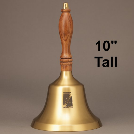 Teacher Recognition Hand Bell with Walnut Handle - Personalization