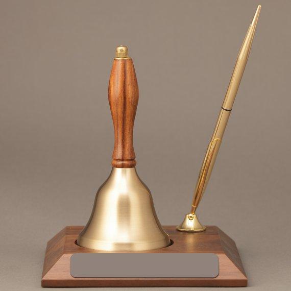 Teacher Appreciation Week Handbell Desk Award Non-Engraved with Pen