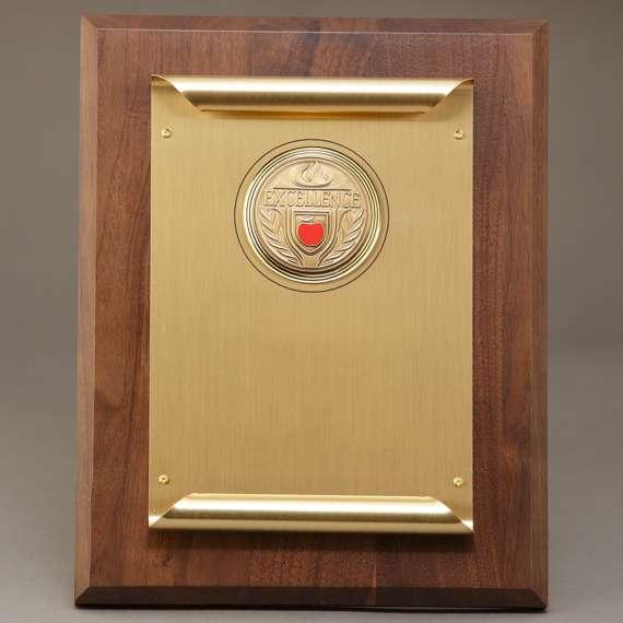 Custom Laser Engraved Teacher Appreciation Scroll Plaque - Non-Engraved