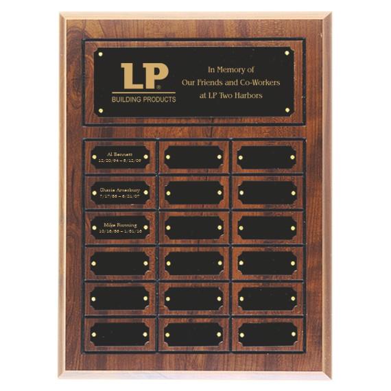 Memorial Perpetual Plaque Laser Engraved - 18 Plate
