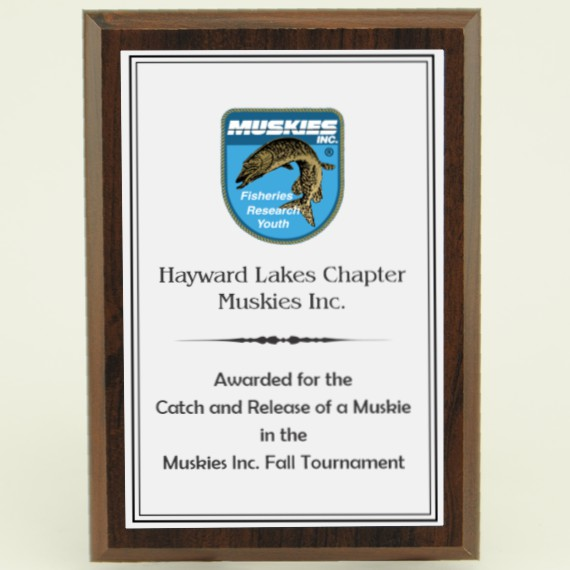 Custom 5 x 7 Cherry FInish Plaque for an Inexpensive Award