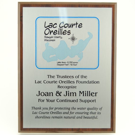Support Plaque of Appreciation - 9x12 Cherry Finish MVP Series