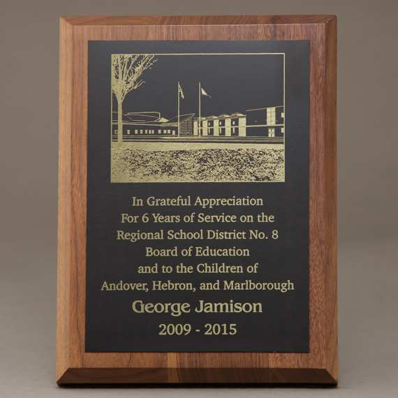 Custom Appreciation Plaque with Laser Engraved Plate