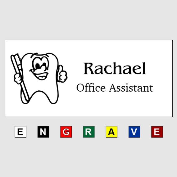 Custom Plastic Name Tags for Work - Businesses and Schools - 1-1/2x3