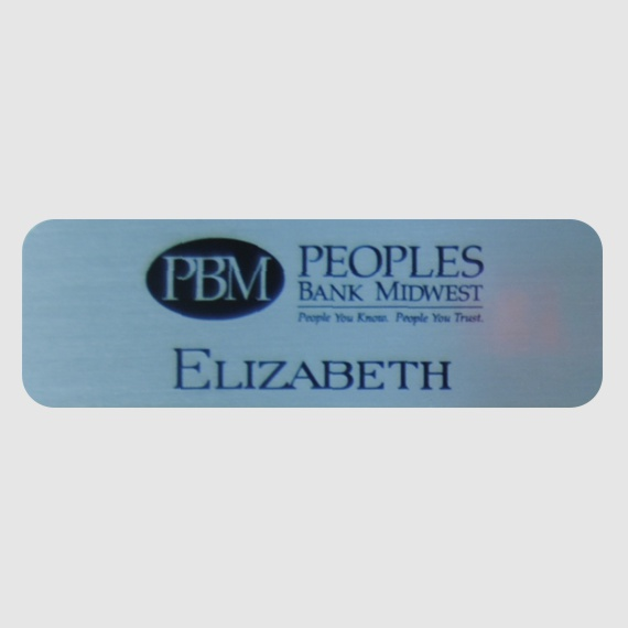 Personalized Metal Name Tags for Work - Businesses and Schools - 1x3