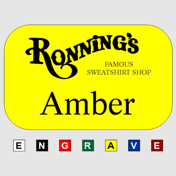 Personalized Plastic 2x3 Name Tags for Work - Businesses and Schools