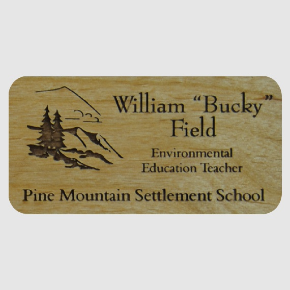 Personalized Wood Name Tags for Work - Businesses and Schools - 2x3