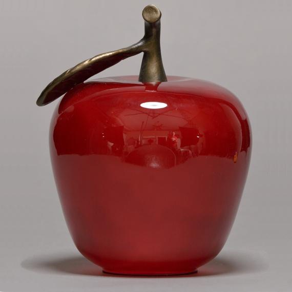 Large Red Glass Apple Handblown Appreciation Gift