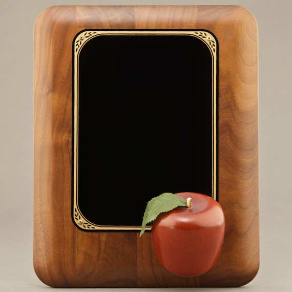 Teacher Appreciation Day Plaque with Red Apple.