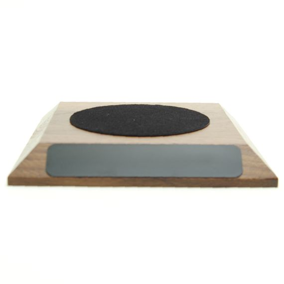 Small Walnut Base for Teacher Hand Bell - 3-3/8 Felt