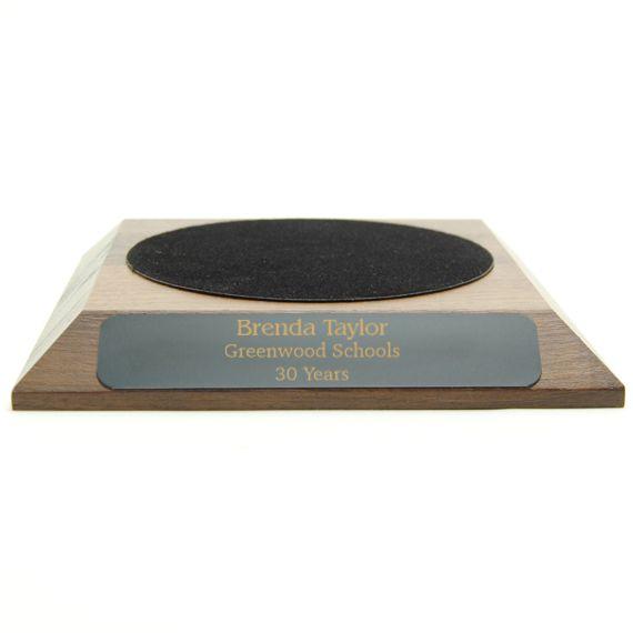 Small Walnut Base for Teacher Hand Bell - 3-7/8 Felt