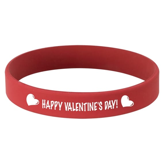 Laserable Red Silicone Bracelet for Student