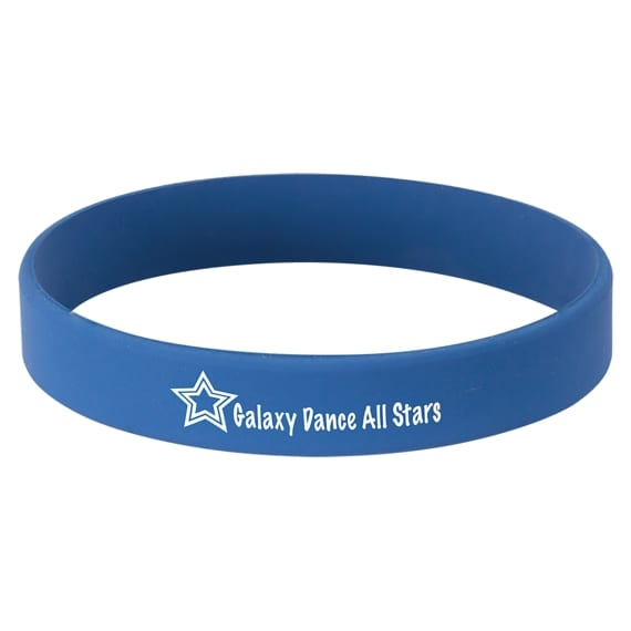 Laserable Blue Silicone Bracelet for Student