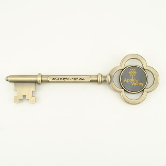 Key to the City Antique Brass Key with Engraving