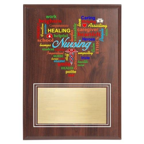 Nursing Excellence Plaque for Nurse Appreciation