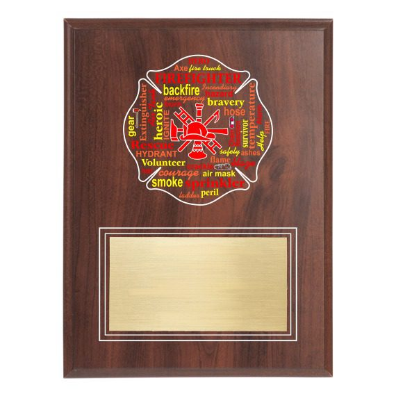 Firefighter Recognition Plaque - No Engraving