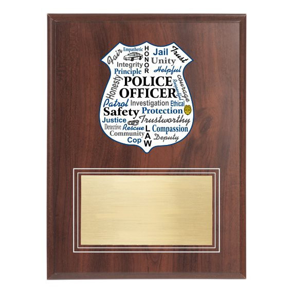 Law Enforcement Recognition Plaque without engraving