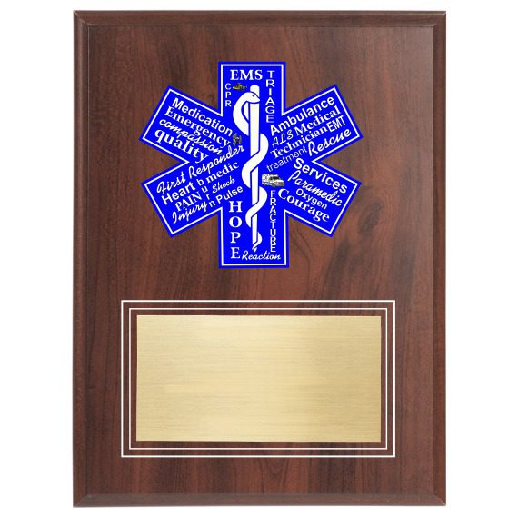 EMT or EMS Plaque for any Emergency Medical Person
